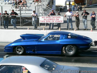 DARK BLUE 1963 Split Window CORVETTE Drag Car