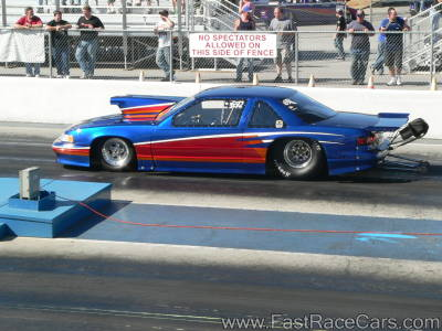 BLUE AND RED CHEVROLET LUMINA RACE CAR