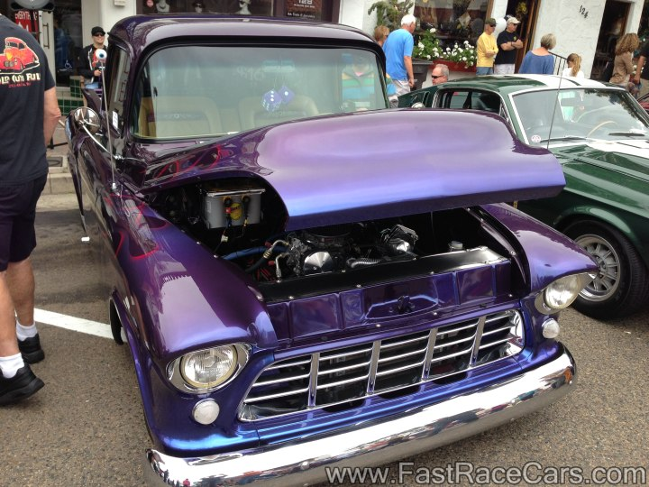 1956 Chevrolet 3100 Step-side Pickup Truck with beautiful color changing paint.